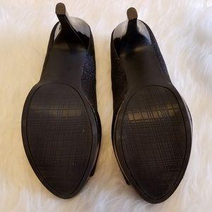 Rampage Shoes - Rampage Glittery Peep Toe Platform Heels